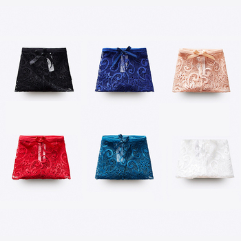 Sexy Lace Panties For Women Seamless Thong Transparent Briefs Set Lingerie Low Waist Underpants Female G string Underwear #F 3