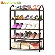 Actionclub estante de Metal sencillo para zapatos, de hierro, multicapa, para dormitorio de estudiantes, almacenamiento de zapatos, gabinete de calzado para bricolaje, muebles para el hogar