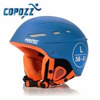 COPOZZ Brand Winter Ski Helmet Integrally Molded Men Women Skating Skateboard Skiing Helmet ABS Snowboard Helmet