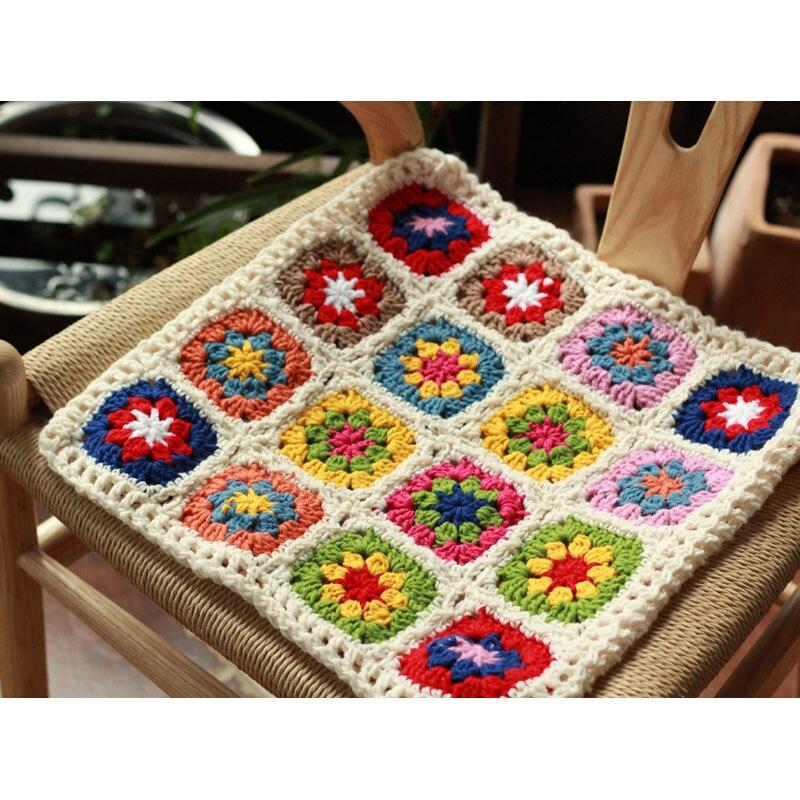 Original 3838cm Handmade Crochet Seat Cushion Korea Diy Home Chair