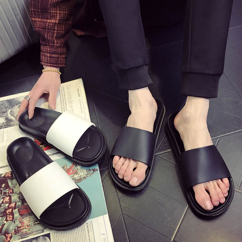 f8301abd3c16a SANZOOG Hot Slippers Men Casual Shoes Non-slip Slides Bathroom Summer  Sandals Soft Sole Fashion