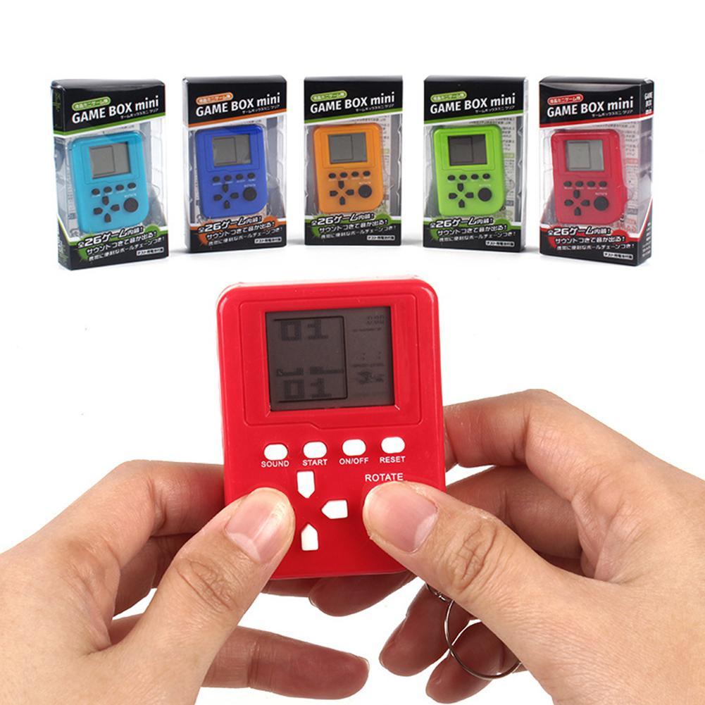 HobbyLane 1pc Classic Mini Handheld Music Game Machine Tetris Brick Game Kids Pocket Game Machine Stress Relief Toy Random Color
