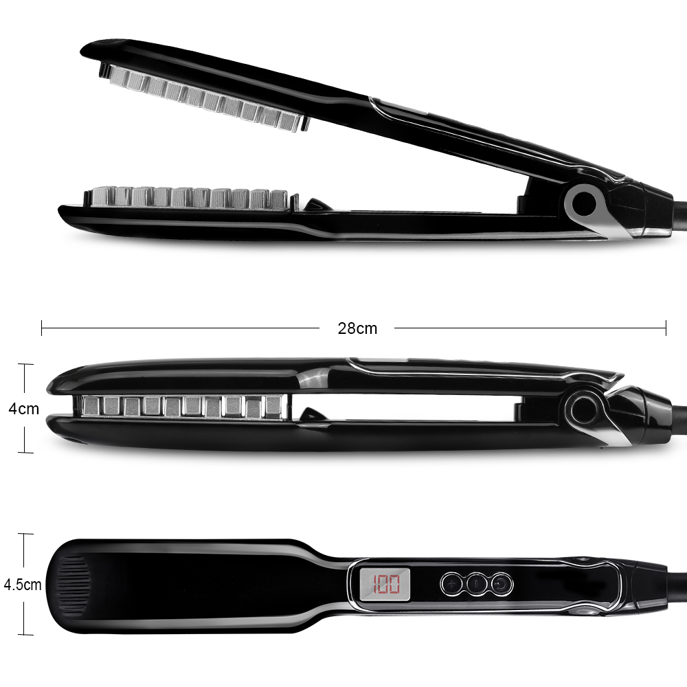 Купить с кэшбэком 2019 New Hair Volumizing Iron Flat Iron Hair Straightener Digital Flat Iron with LCD Display Hair Styling Tools