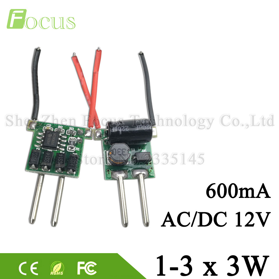 10 Pcs Mr16 12v 1 3x3w Led Driver 3 9v 3w 9w Ic 6807 Lamp Power Dc 512v 300ma Circuit Buy 3wled Lighting Transformer 600ma Constant Current Supply 2 Feet
