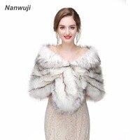 2018 Winter Bridal Fur Wraps Wedding Bolero Jacket Cheap Bridal Shawl Capes Plus Size Bolero Faux Fur Shawls Wedding Jakects