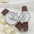 Onlyou marca moda casual relógio de quartzo dos homens das mulheres relógio para meninos das meninas relógios de pulso das senhoras vestido de relógio de couro genuíno 8888