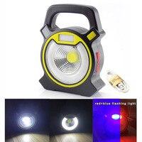 3 way super brilhante led cob portátil holofote lanterna luz de trabalho lâmpada holofote recarregável handheld alta potência|Holofotes|Luzes e Iluminação -