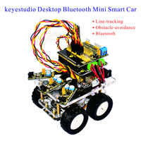 2016 New Keyestudio Desktop Wireless Bluetooth Mini Smart Car Robot Car DIY Kit For Arduino Kit