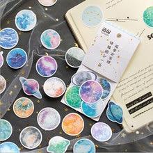50pcs/bag Planet cat Mini Paper Stickers Decoration DIY Sticker Scrapbooking label Stationery stickers