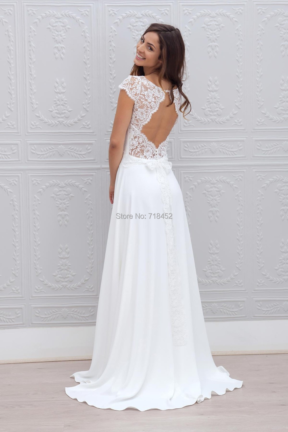 Chiffon Wedding Gowns with Sleeves
