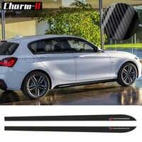 2 stücke Neue Stil M Leistung Seite Rock Sill Streifen Decals Aufkleber für BMW 1 Serie F20 F21 118i 120i 125i 128i 135i M Sport