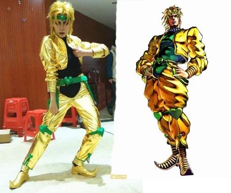 Customized JoJo's Bizarre Adventure movie Dio Brando Cosplay Costume yellow gold costume (not shoes) costumes yellow cosplay costumedio brando cosplay - AliExpress