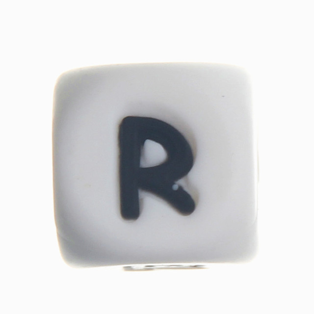 20pcs silicone alphabet letter r chewing beads food grade bpa