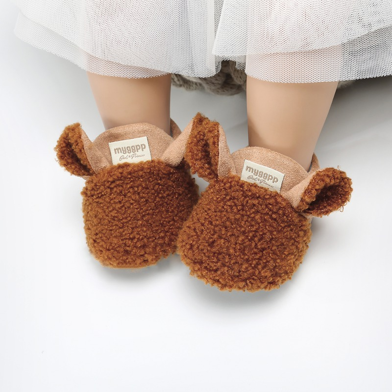 Winter Baby Shoes Thicken Warm Fashion Cartoon Baby Girl Shoes First Walkers Soft Boys Girls Shoes Prewalker
