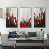 Acrylic painting Modern Abstract 3 pieces oil Painting Wall Art Pictures for living room Home Decor Hand Painted abstract color1