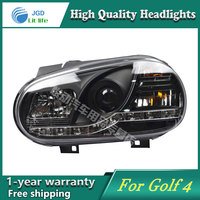 High Quality Car Styling Case For VW Golf 4 Headlights LED Headlight DRL Lens Double Beam