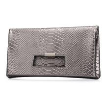 QIANGSHILI Brand Fashion Socialite Serpentine Split Leather Fold Over Envelope Luxury Handbags Women Bags Designer High