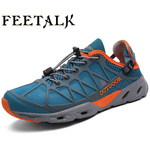 Breathable Mountain Trekking Hiking Shoes Men Outdoor Climbing Shoes Mens Sport Sandals Leather Sneakers Woman Shoes Trekking
