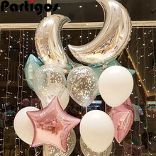 15pcs/set Moon Balloons Marriage Decoration love helium balloons confetti ballon supplies happy birthday Globos valentine's day