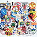 50 unids/bolsa 2016 Nuevo Estilo Del Club de Fútbol LOGO Sticker Stickers Impermeables Moda Tronco Marca Portátil Pegatinas de Juguetes