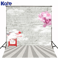 200CM 150CM Backgrounds Fence Wall Stands Mighty Tall And Strong Broad Base Of Bricks Clouds Photography