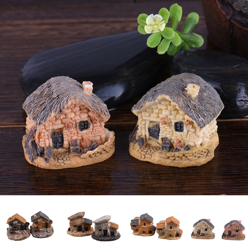 Big sale 8 types mini house cottage models lovely house for Deco jardin miniature