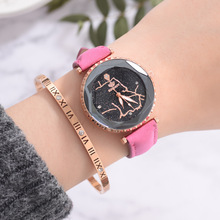 Leather Watches Women Lovers Quartz Watch Men Brand Luxury Wristwatch Female Male Quartz Lover`s Watches