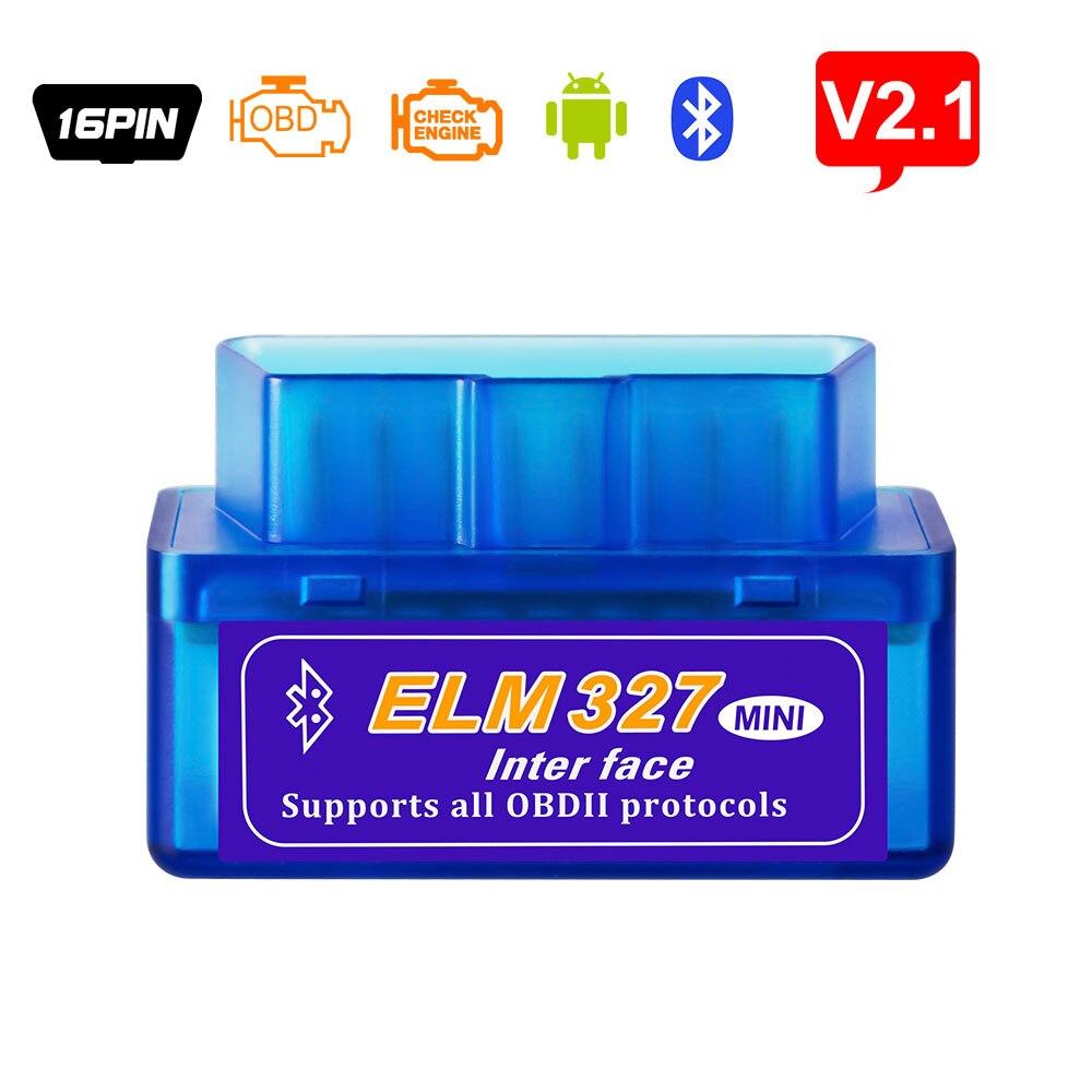 ELM327 Bluetooth V2.1 для Android Крутящий момент OBD 2 интерфейс OBD2 сканер Супер Мини ELM 327 поддерживает OBD II протоколы считыватель кодов - Цвет: ELM327 Bluetooth