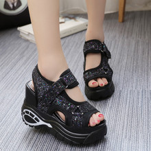 New Fashion Platform Sandals Wedges Thick Bottom
