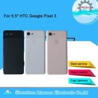 Original M&Sen For 5.5 HTC Google Pixel 3 GLASS Back Battery Cover Case+Fingerprint+Glass Lens For Google Pixel 3 Rear Housing