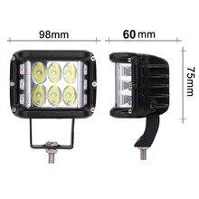 ECAHAYAKU 4 inch LED Work Light Offroad 60W 12 light modes LED Driving Lamp fog led bar For auto Truck SUV ATV 4x4 12v 24v 6500k цены