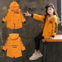 Детский плащ для девочек, куртка с капюшоном Одежда для девочек-подростков 4, 6, 8, 10, 12, 13 лет Осенняя верхняя одежда года для детей в школу