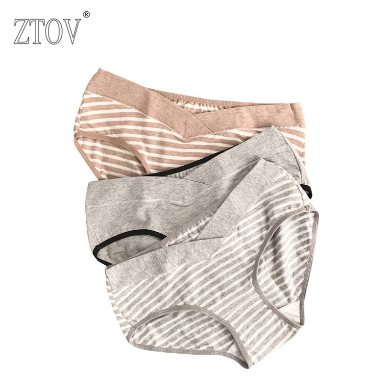 ZTOV 3PCS/Lot cotton Pregnancy Maternity Women Underwear Panties pregnant women clothes U-shaped low-Waist Briefs M L XL XXL K11 sesibibi 3pcs цвет случайный xl