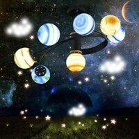 Fumetto Creativo Pianeta lampada da soffitto Ragazzi e Ragazze Camera Da Letto Per Bambini In Camera di Illuminazione Americano HA CONDOTTO Planetario lampada da soffitto Plafoniere Luci e illuminazione -