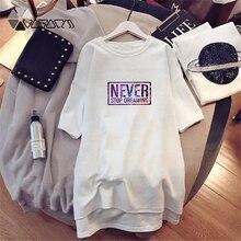 NEW Women Fashion Letter Printing Dresses Starry Sky Romantic Loose Vestidos Short Sleeve Plus Size Harajuku Summer Mini
