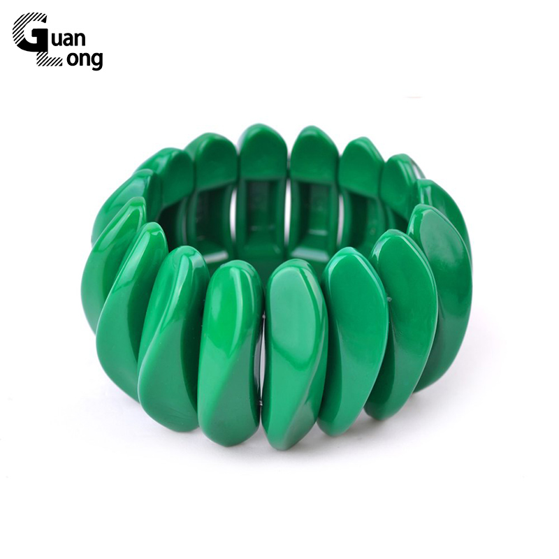 GuanLong Anime Resin Strand Stretch Bracelets For Women Spring Trendy Jewelry Bracelet Aliexpress Bestselling