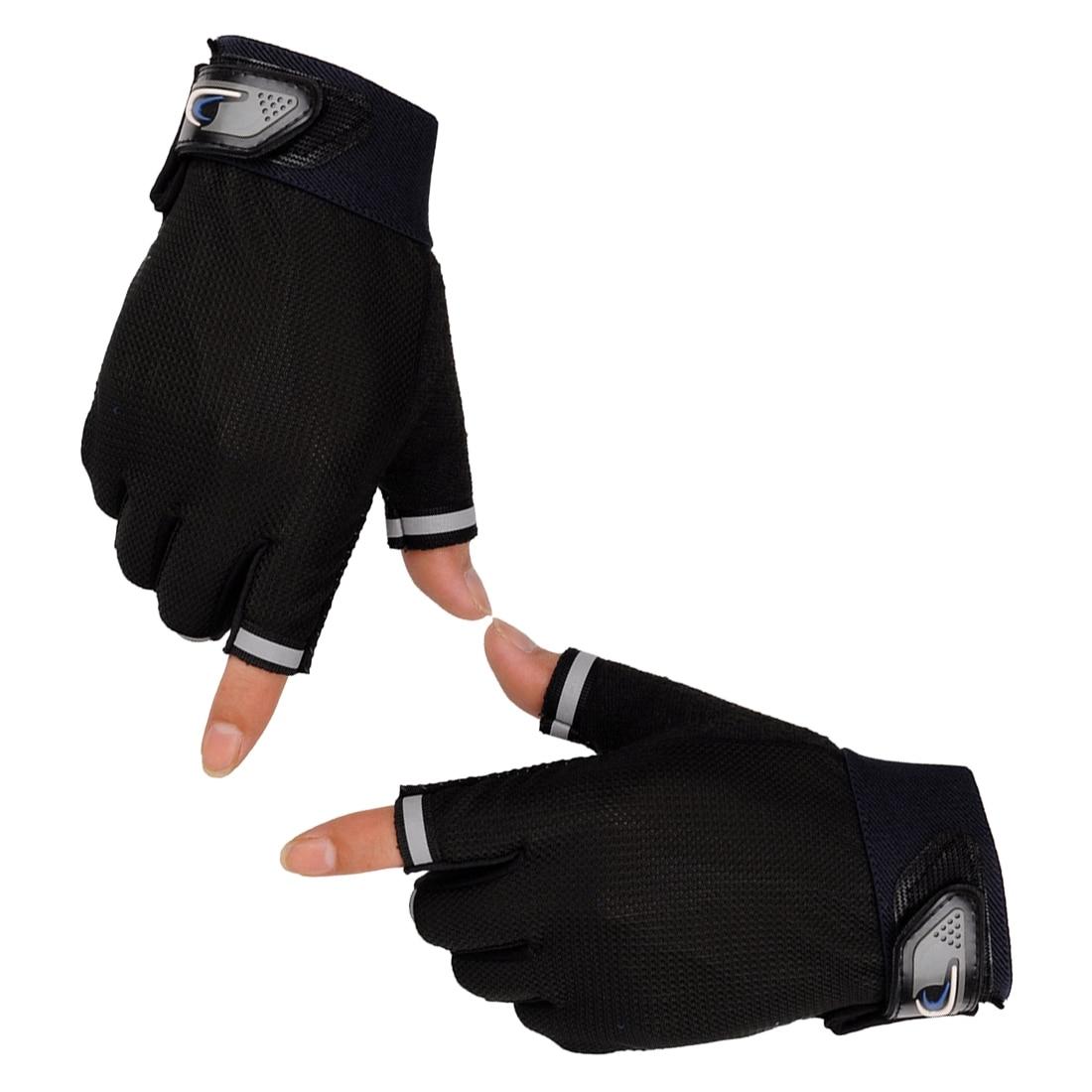 ღ ღUnsex mujeres hombres guantes sin dedos chic medio dedo guante ...