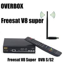 Free USBWIFI overbox Freesat V8 Super 3G IPTV digital Satellite tv receiver DVB-S2 1080p hd support newcamd scart