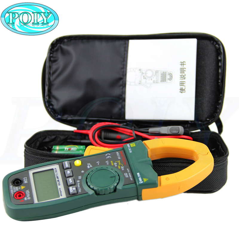 MASTECH MS2138 Digital 1000A AC DC Clamp Meter Multimeter Electrical Current 4000 Counts Voltage Tester with
