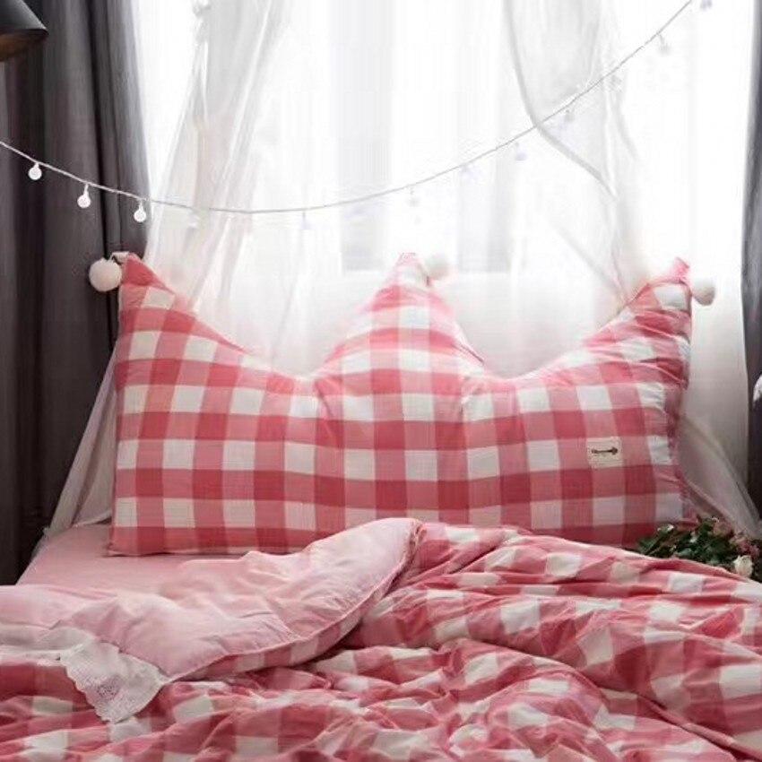 Grande taille plaid couronne en forme oreiller coussin pour les filles, rose siège tapis avec des boules, de chevet décoration oreiller avec core
