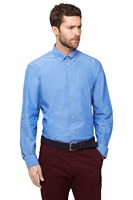 New Arriving 100 Cotton Custom Made Demin Blue With Button Down Collar And Button Cuff Men
