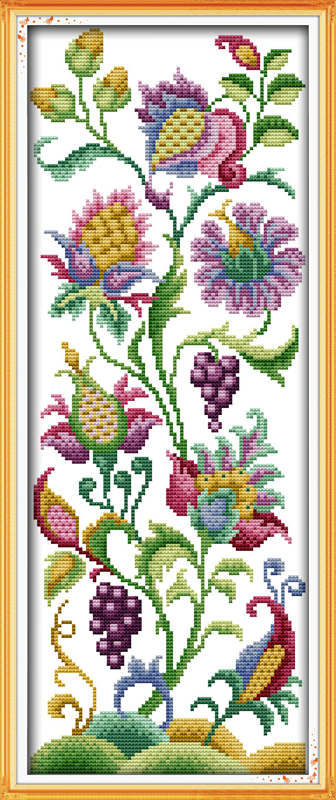 Abstract Flowers Home Decoration Cross Stitch Kits With The Written Pattern Embroidery Needlework Canvas Painting Dmc Garen