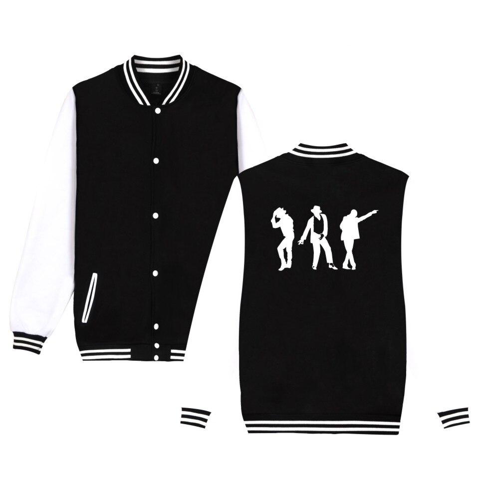 Michael Jackson Moonwalk Silhouette Jacket Fashion Casual Men Women Clothing Baseball Uniform Moonwalk Poppin Silhouette