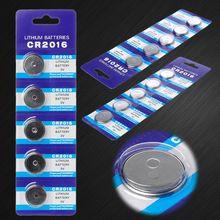 5 шт. Кнопочная батарея CR2016 3 в Литиевые Батарейки для монет LM2016 BR2016 DL2016 часы электронные рекламные игрушки пульт