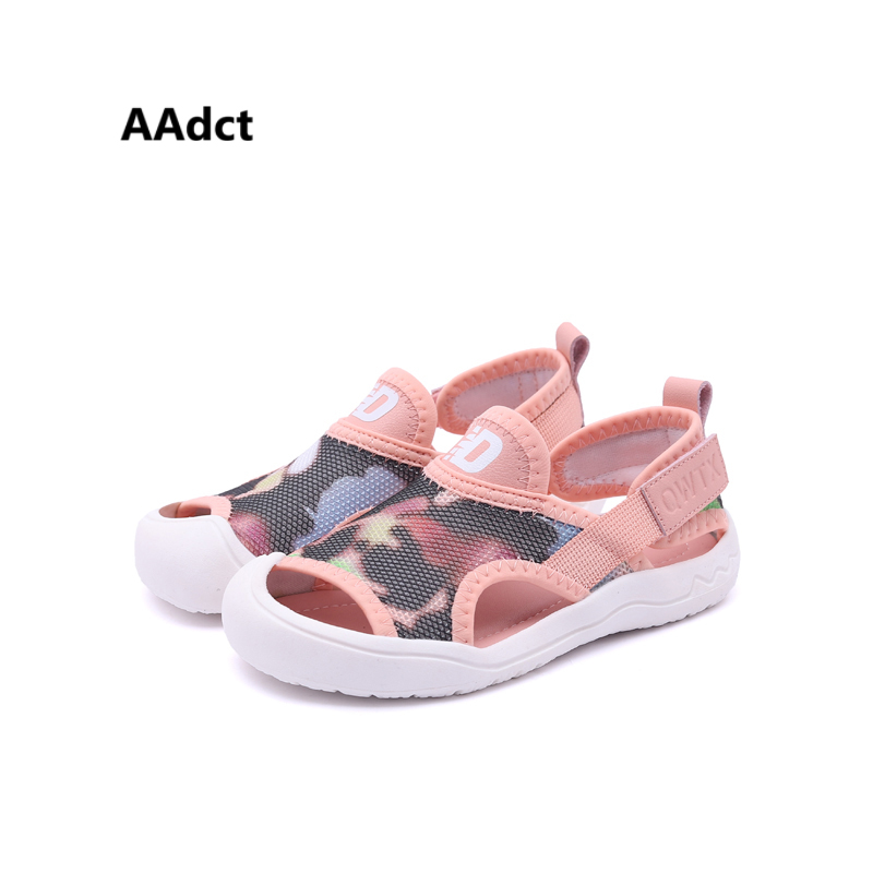 AAdct Mesh sports girls sandals 2018 new summer boys sandals camouflage breathing children sandals Brand High-quality