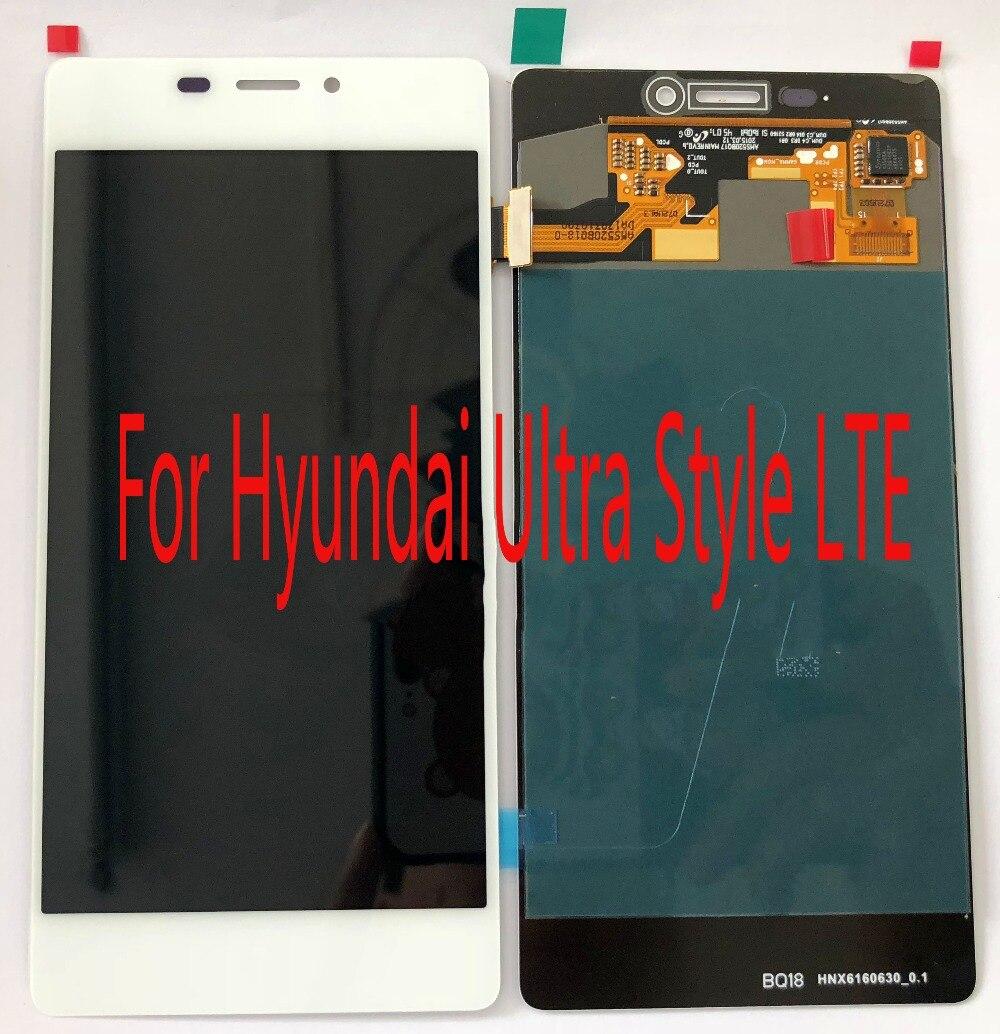 Pour Hyundai Ultra Style LTE Écran assemblée + LCD ou Tactile en verre remplacer Réparation écran Freeshinpping