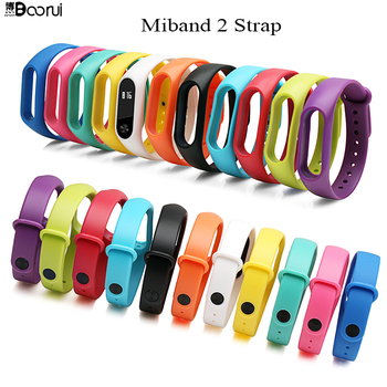 BOORUI Smart Accessories Miband 2 Strap replace for xiaomi mi band 2 sports silicone wrist strap bracelet with varied colors 1