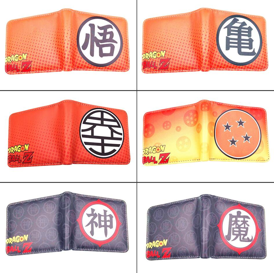 Anime DragonBall Z <font><b>Sayajins</b></font> Roshi Pu Short wallet Bifold Photo Card Holder Layers Purse leather Boys Girls Coin zipper Pocket image