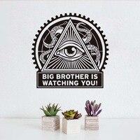 Big Brother Jest Oglądając Ci Lertters Retro Naklejki Samoprzylepne Tanie Wodoodporne Tapety Ścienne Do Dekoracji Salonu