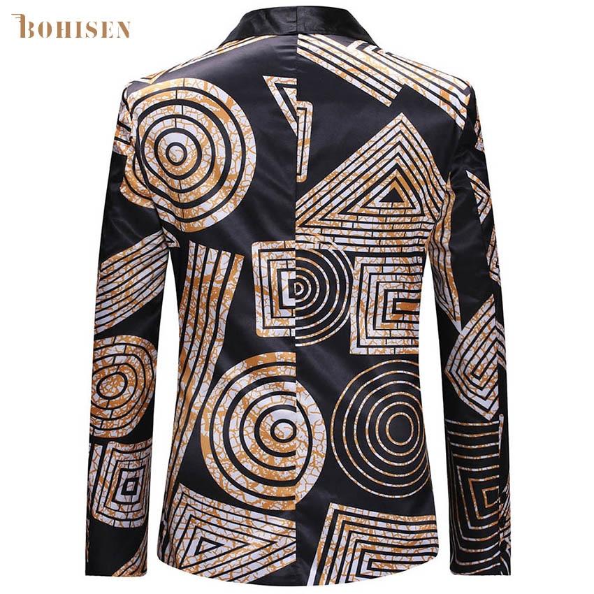 BOHISEN African Print Men Tops T-shirt Dashiki White Long Sleeve Slim Stand Collar Male African Clothes Formal Dress